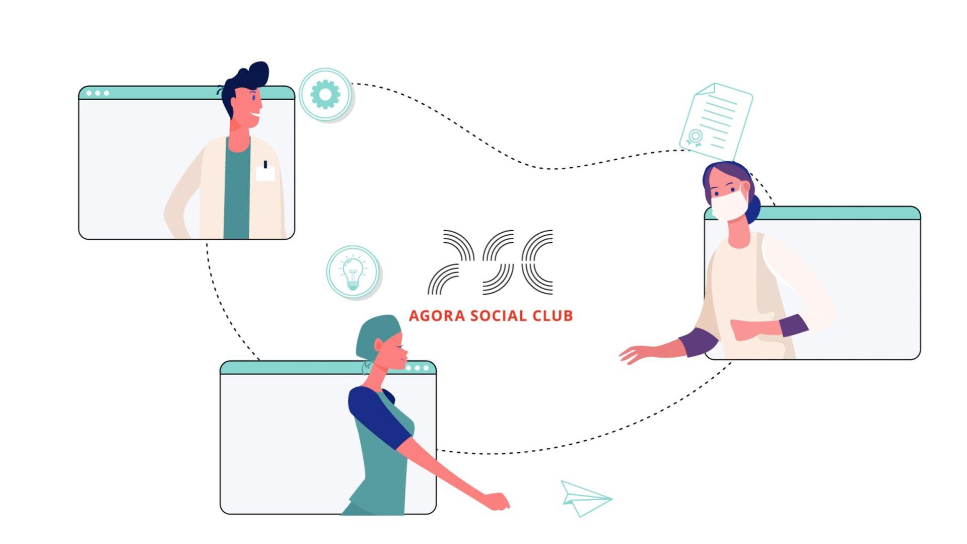 réalisation Les 2 ans de l'Agora Social Club